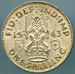 Great Britain 1943 1 Shilling KM 854 XF
