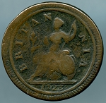 Great Britain 1723 Half Penny KM 557 Good