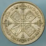 Great Britain 1936  2 Shillings KM 834 VF
