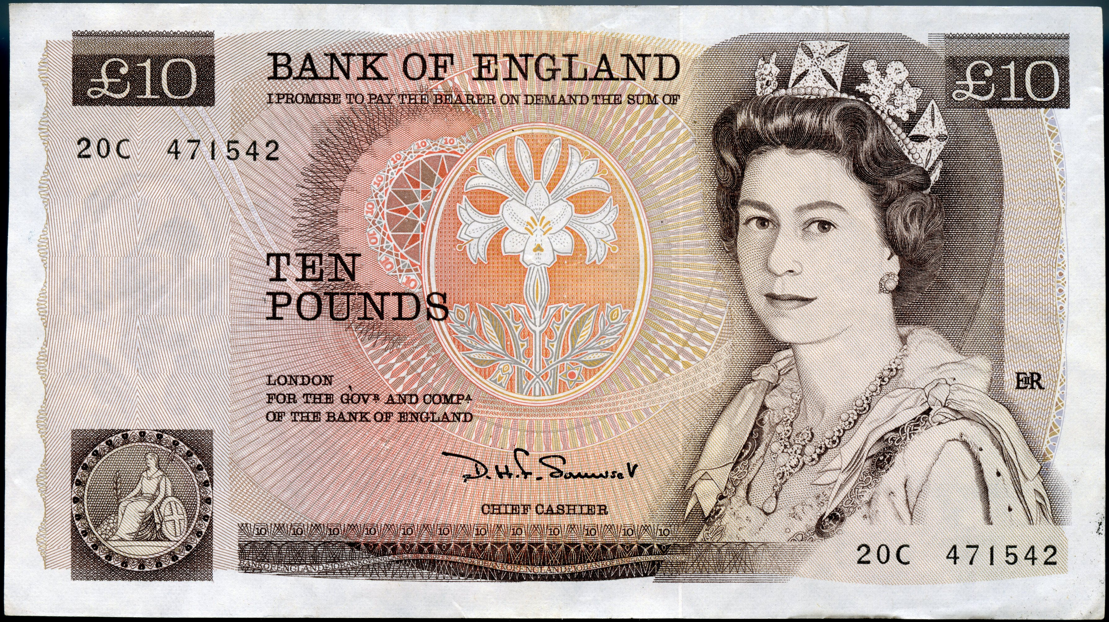 Great Britain 1984 Ten Pound VF P379b 20C
