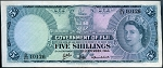 Fiji Islands 1964 5 Shillings XF P51D