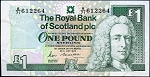 Scotland 1988 One Pound Sterling VF P351a