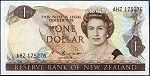 New Zealand 1985-1989 One Dollar AU P196b
