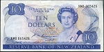 New Zealand 1985-1989 Ten Dollar XF P172b