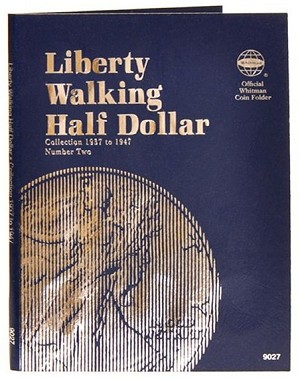 Whitman Walking Half-Dollar Coin Folder #2 - 1937 to 1947 - (9027)