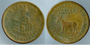 1833 Hard Times Token - I Take Responsibility Very Good