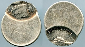 1992-D Jefferson Nickel, Off-Center strike, Last two digits show.  Mint State