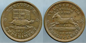Token 1837 Executive Experiment / Illusions I follow In The Steps Of My Predecessor Mint State
