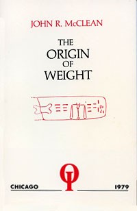 The Origin of Weight - Soft Cover