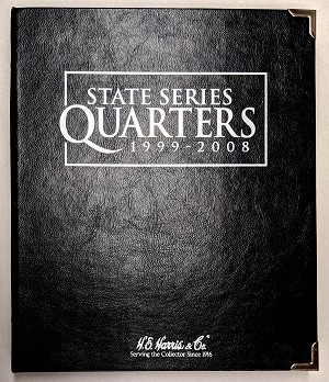 H E Harris & Company State Series Quarters 1999-2008 Date Set Coin Album