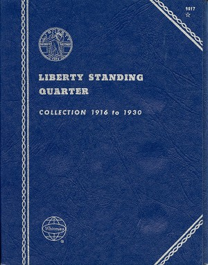 "Whitman Folder ""Liberty Standing Quarter"" 1916-1930 Coin Folder 9017 New"