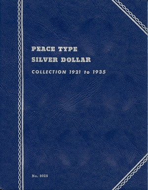 "Whitman Folder ""Peace Type Silver Dollar"" 1921-1935 Coin Folder 9028"
