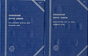 "Whitman Folder ""Canadian Fifty Cent"" Coin Folder 9070 & 9071 New - 2 Folder Set"