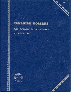 "Whitman Folder ""Canadian Dollars"" 1958-Date #2 Coin Folder 9087 New"