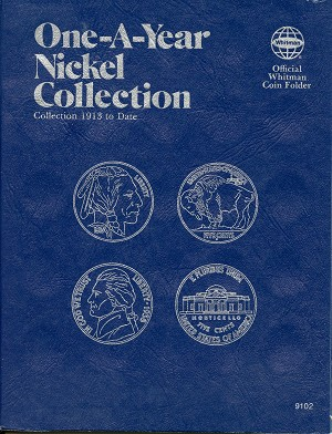 Whitman Folder One-A-Year Nickel Collection 1913 to Date - 9102