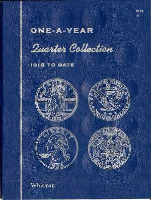 Whitman Folder One-A-Year Quarter Collection 1916 To Date