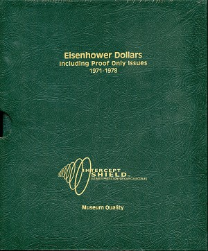 Intercept Shield Album: Eisenhower Dollars - 1971 - 1978 (Including proof only issues), A-0150