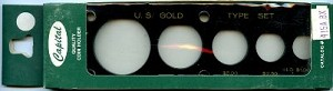 "Capital Plastics ""U.S. Gold Type Set"" 5-Coin Holder - Lg. Gold Dollar - Black"