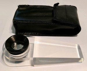 ElectroOptix 14x Acrylic Base Magnifier with Leather Case