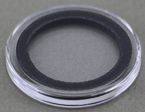 Air-Tite Coin Holder 25 mm - Black Ring