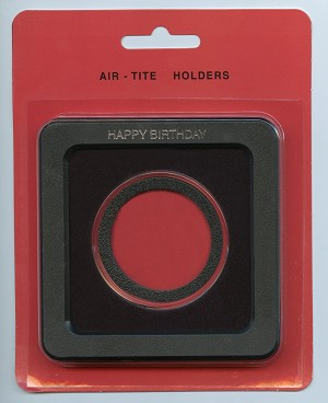 Air-Tite Frame Holder - Happy Birthday - Silver American Eagle 40.6mm  - Black