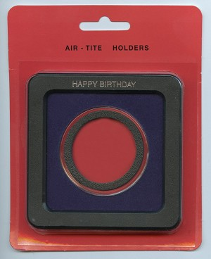 Air-Tite Frame Holder - Happy Birthday - Silver American Eagle 40.6mm  - Blue
