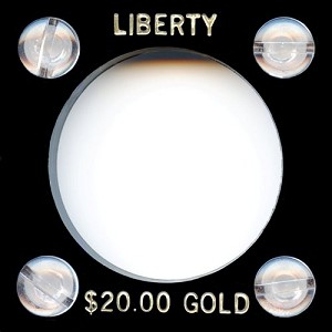 "Capital Plastic #144 Coin Holder ""Liberty $20.00 Gold"" - Black"