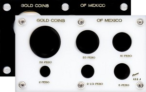 "Capital Plastic 3-1/2"" x 6"" 6-coin Gold Coins of Mexico"