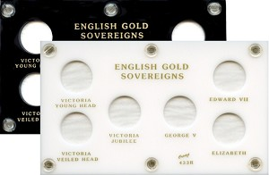 "Capital Plastic 3-1/2"" x 6"" English Gold Sovereigns - Type Set"