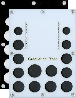 Capital Plastic 14-Coin Acrylic 3 panel Photo Coin Holder Graduation Year - Cent to Half-dollar, 5-Quarters, 5-Sm Dollar