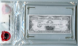 "Capital Plastic ""CH"" Currency Holder 4.5"" x 6.5"" - Post Cards."