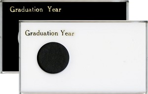 "Capital Plastic Single Coin 4"" x 7"" Meteor Holder Graduation Year - Silver Eagle Dollar (40.6mm)"