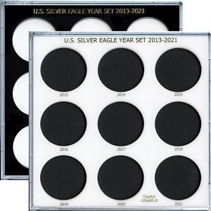 "Capital Plastic 6.5"" x 6.5"" U.S. Silver Eagle Year Set 2013-2021"