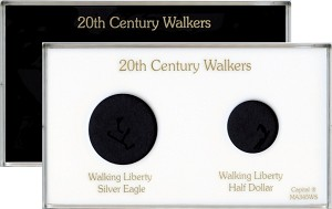 "Capital Plastics 4"" x 7"" 2-Coin 20th. Century Walkers"