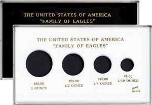 "Capital Plastic 4"" x 7"" 4-Coin Family of Eagles"