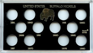 "Capital Plastic 4"" x 7"" Meteor 12 Coin Holder U.S. Buffalo Nickels - 1934-1938D"