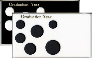 "Capital Plastic 6 Coin 4"" x 7"" Meteor Holder Graduation Year - Small Dollar"