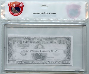 "Capital Plastic Meteor Case Currency Holder 4"" x 7"" - For notes 1928-Present"