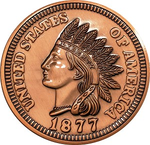 Giant 1877 Cent