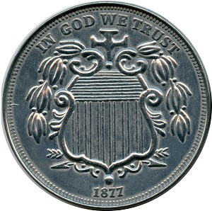 Giant 1877 Shield Nickel