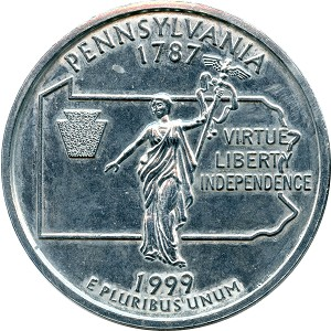 Giant 1999 Pennsylvania Quarter