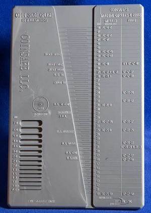 CoinSafe Coin Size Gauge
