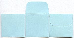 "2"" x 2"" Coin Envelopes - Blue - 50 Pack"