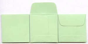 "2"" x 2"" Coin Envelopes - Green - 50 Pack"