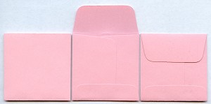 "2"" x 2"" Coin Envelopes - Pink - 1,000 - Box"