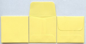 "2"" x 2"" Coin Envelopes - Yellow - 250 Pack"