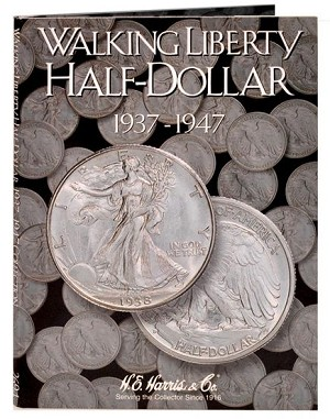 Harris Walking Half Dollar Folder #2 1937-1947