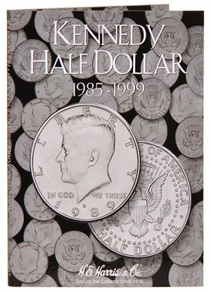 Harris Kennedy Half Dollar Folder #2 1985-1999