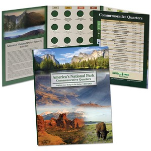 Littleton's America The Beautiful Commemorative Quarter Folder Date Set 2010-2021