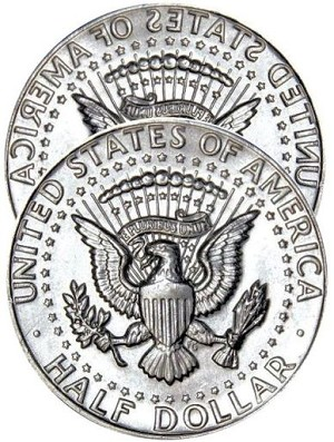 Two Tailed - Kennedy Half Dollar
